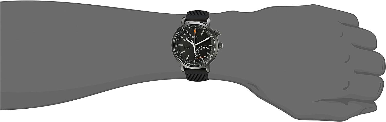 Timex Metropolitan+ Activity Tracker Smart Watch Black + Orange Strap