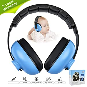 Noise Cancelling Headphones for Kids, Babies Ear Protection Earmuffs Noise Reduction for 0-3 Years Babies