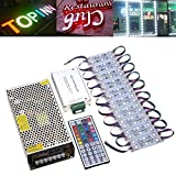 HITSAN 100pcs SMD5050 RGB LED Module Strip Light for Club Store Front Window Sign One Piece