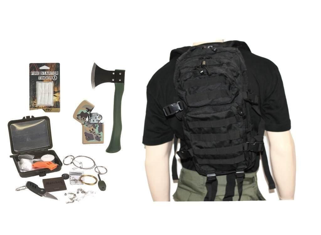 AOS-Outdoor Survival Set Trekking Outdoor Set 5 Teile schwarz