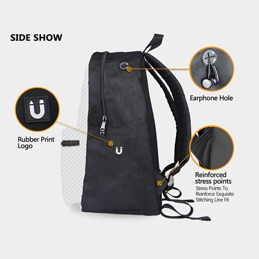 HUGS IDEA Cute Denim Cat Travel School Backpacks Bag Y-C3301J