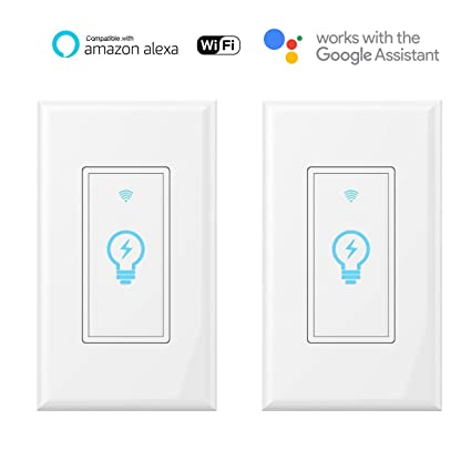 Smart Light Switch, Wi-Fi Switch In-wall Wireless Compatible With ...