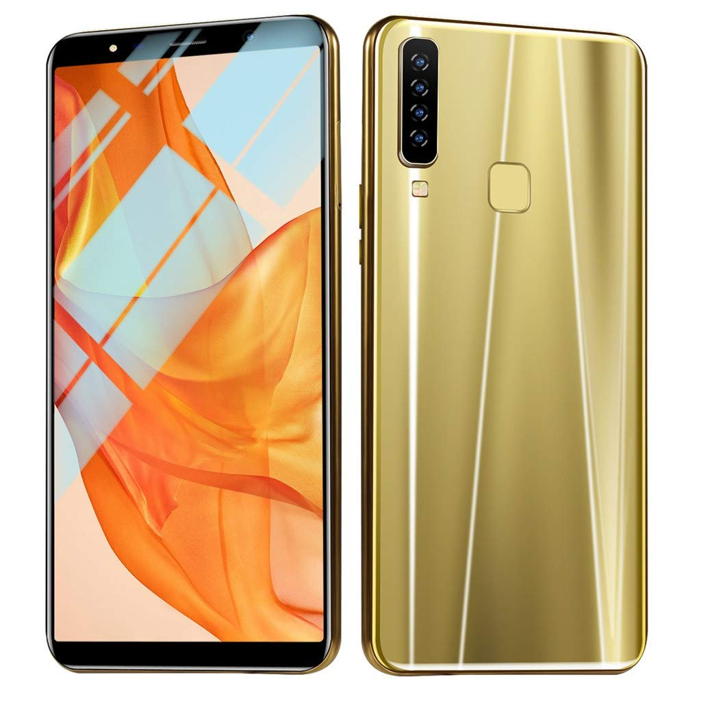2019 New Eight Cores 6.1 inch Dual HD Camera Android16GB Dual SIM Mobile Phone Cell Phone Unlocked Smartphone Gold