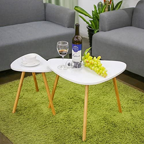 home, kitchen, furniture, living room furniture, tables,  nesting tables 5 image HOMFA Nesting Coffee End Tables Modern Furniture Decor deals