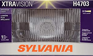 SYLVANIA - H4703 XtraVision Sealed Beam Headlight - Halogen Headlight Replacement Delivers More Downroad Visibility (Contains 1 Bulb)