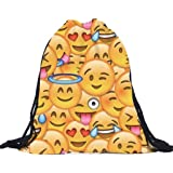 Kikisale 3D Printing Smiling Face Soft Casual Daypacks Emoji School Book Bags Backpack