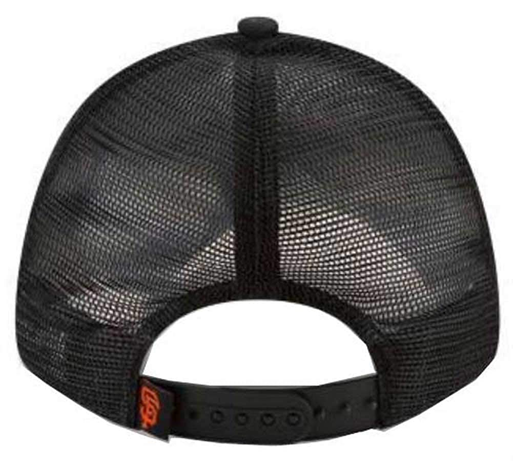 New Era 9Forty Hat MLB San Francisco Giants Black Trucker Adjustable Cap