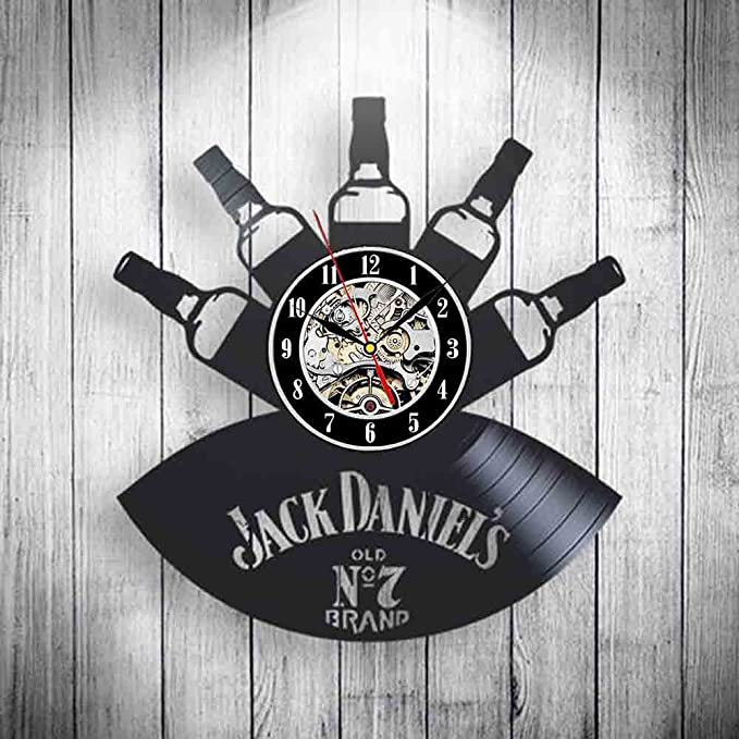 Amazon.com: Maxde Whiskey Design 3D Wall Clock Sticker Decoration Art Clock (4): Home & Kitchen