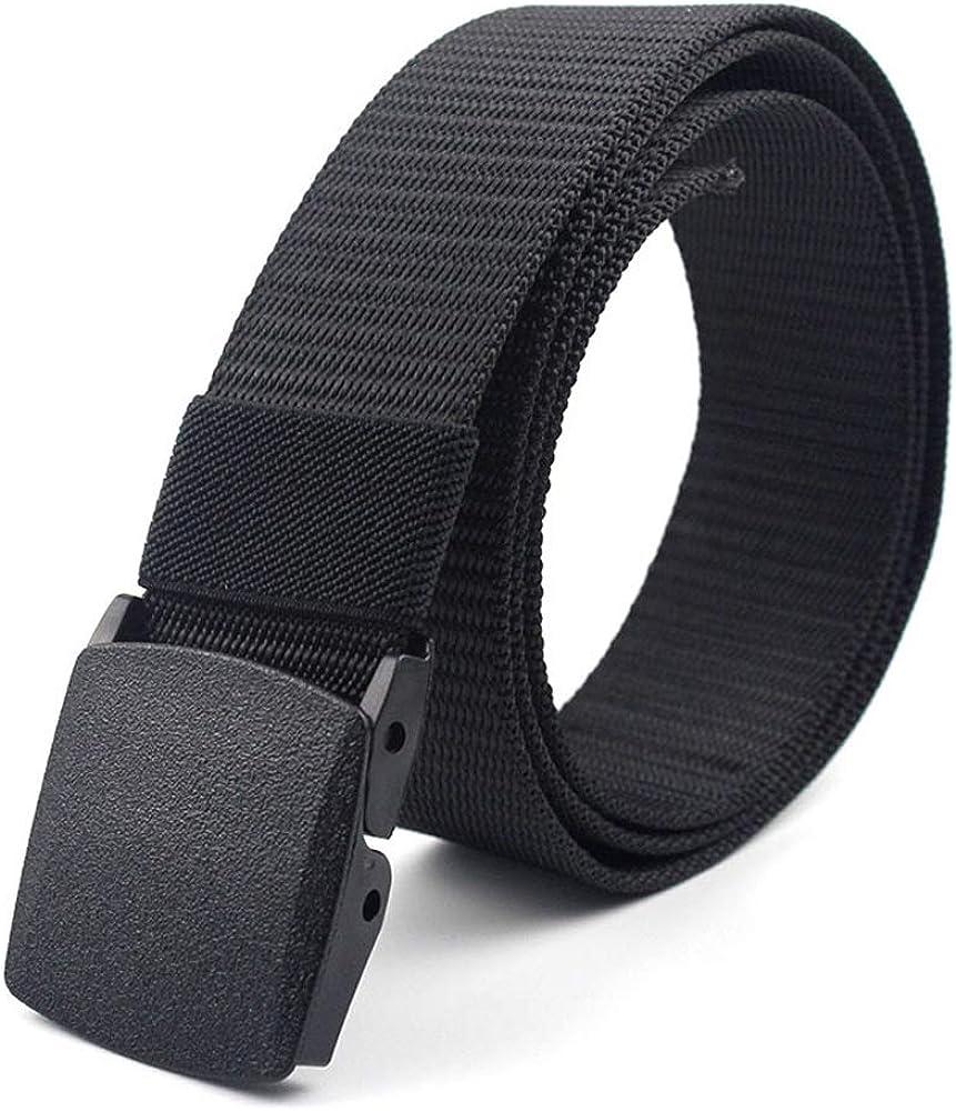 Cintur/ón T/áctico Militar Ajustable Cintura Hombres Lona Nylon Hebilla Pl/ástica Durable y C/ómodo con Hebilla Pl/ástica 120 * 3.8cm