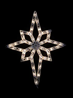 Star Of Bethlehem Outdoor Light Amazon impact 22 lighted star of bethlehem christmas window northlight 18 lighted star of bethlehem double sided christmas window silhouette decoration workwithnaturefo