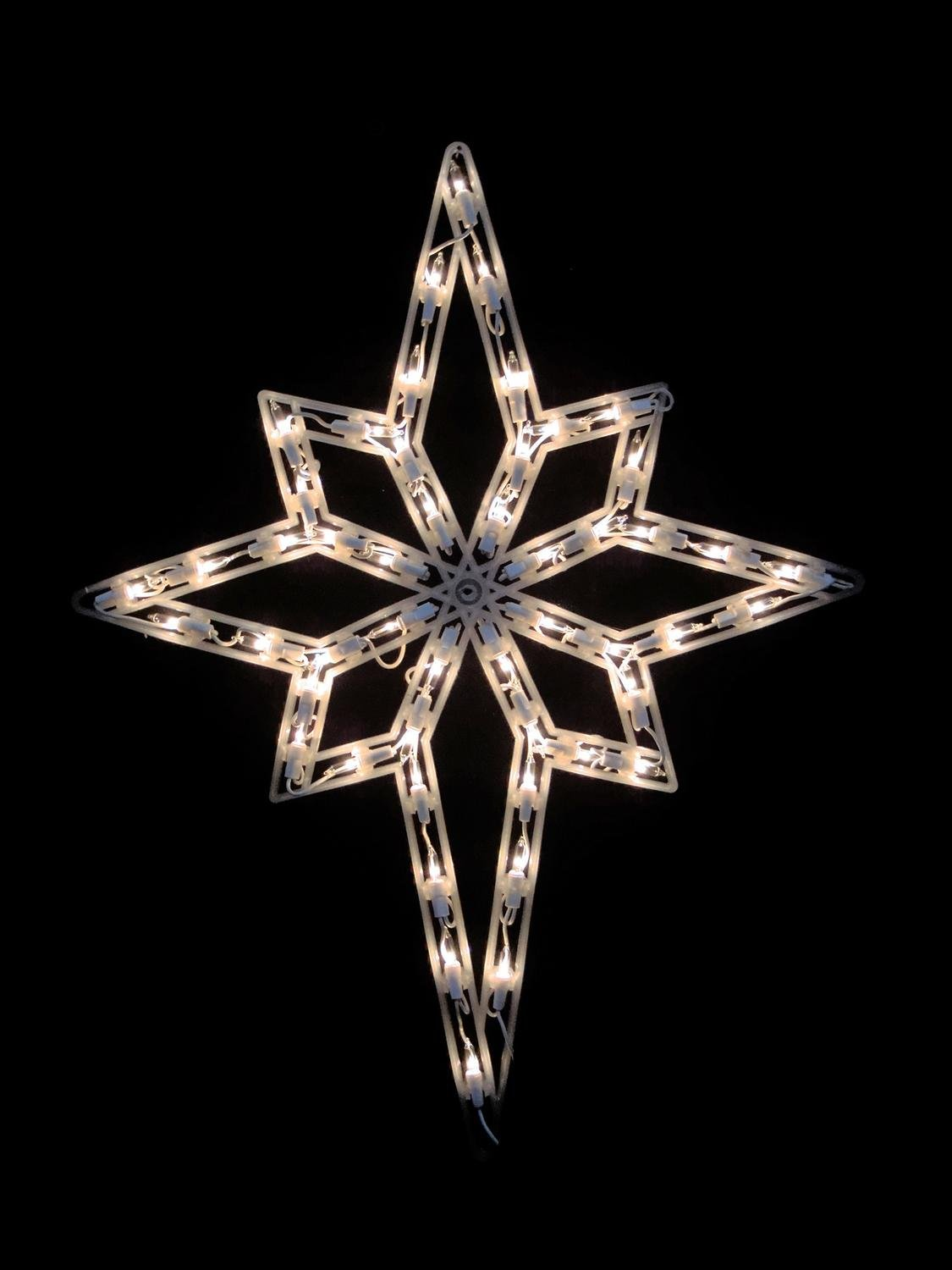 Northlight 18'' Lighted Star of Bethlehem Double Sided Christmas Window Silhouette Decoration