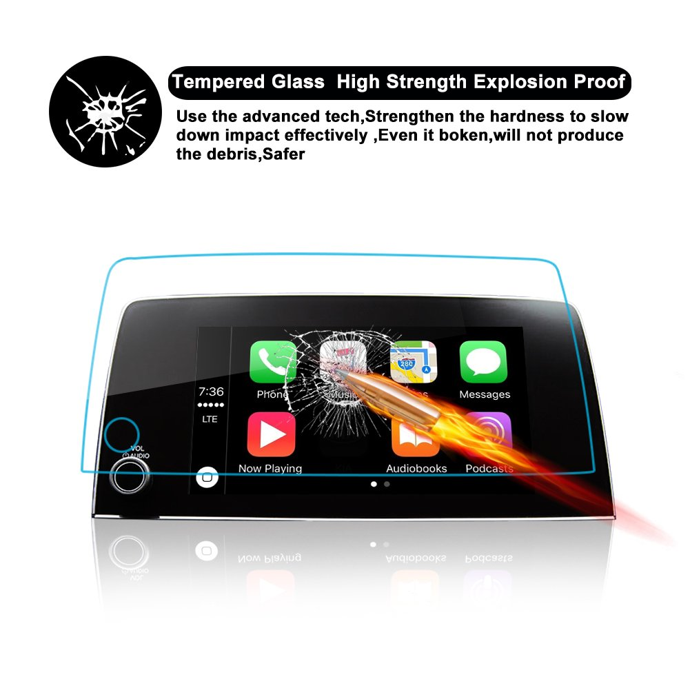 RUIYA CRV 7In 7-Inch 2017 2018 2019 Honda CRV Trapezoid Tempered Glass Protector for CRV Special 7-Inch in-Dash Center Navigation Screen Display Lx Ex Ex-l Touring Heat-Resistant