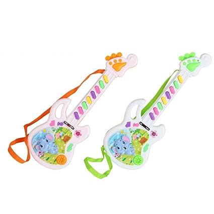 Internet Juguetes educativos Juguete de Guitarra eléctrica Musical Juega para Kid Boy Girl Niñito Juguete electrónico