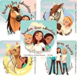Smile Makers Spirit Riding Free Stickers - Prizes and Giveaways - 100 per Pack