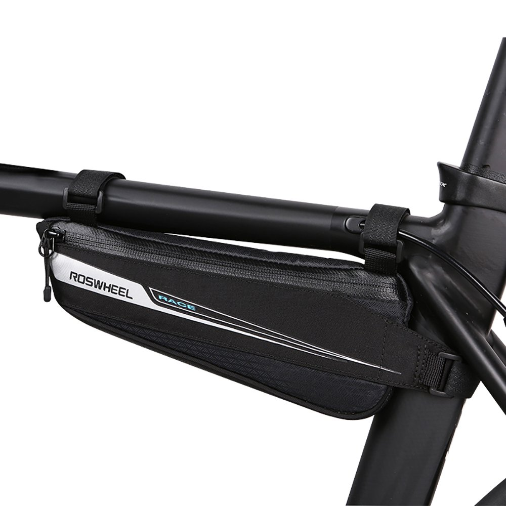 Roswheel プロフェッショナルロードバイクバッグ サイクリング 自転車 バイク バッグ トップチューブ トライアングルバッグ ロードバイク フロントバッグ (0.6L)   B07CZBM4BV
