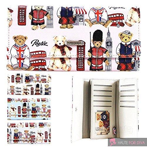 Haute para Divas Mujer Oso de Peluche Londres diseño Printed Faux Cartera Billetera Piel: Amazon.es: Equipaje