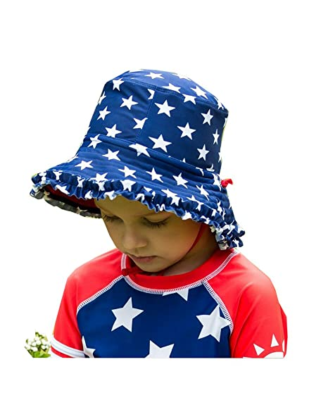 2091cde63 Amazon.com: Mo-Magic Kid Baby Summer Hat Baby Sun Hat Wide Brim Sun ...