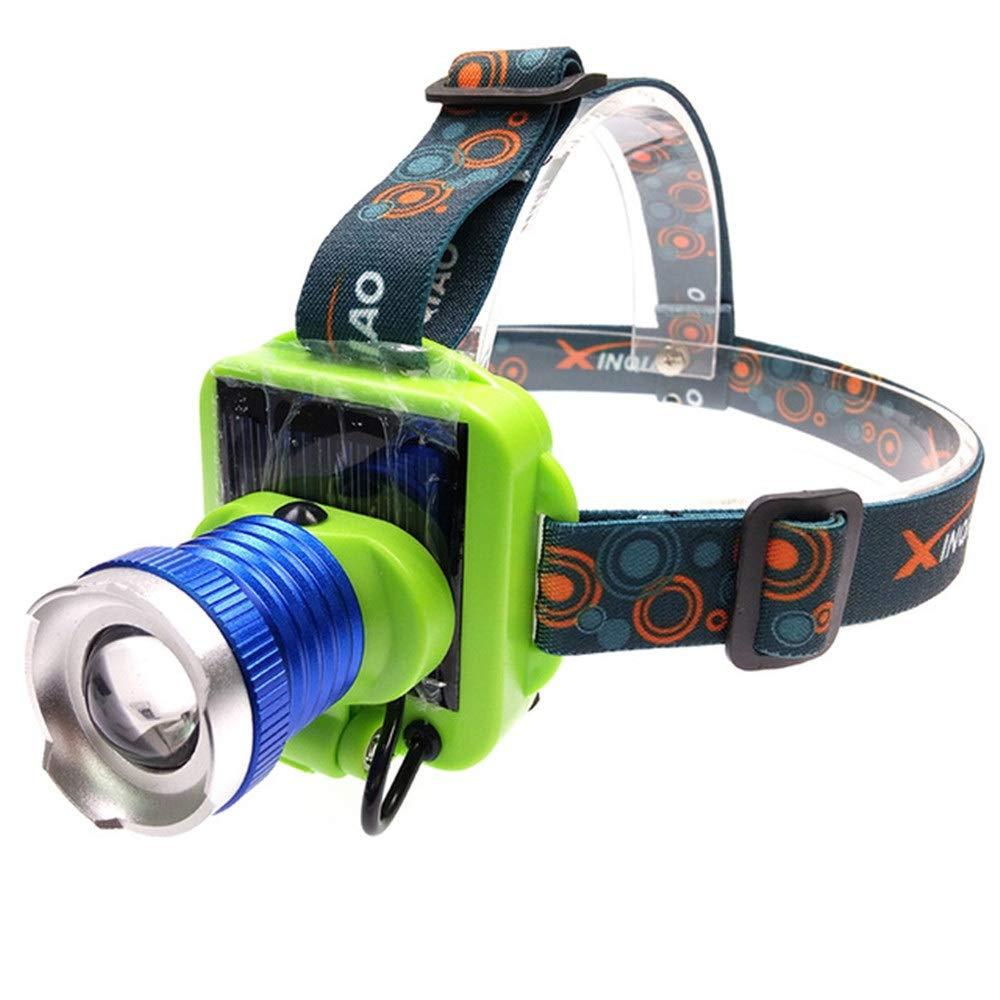 HAWEEL Headlamp, YWXLight Solar Charging USB Charging HeadMounted Waterproof LongRange Headlights