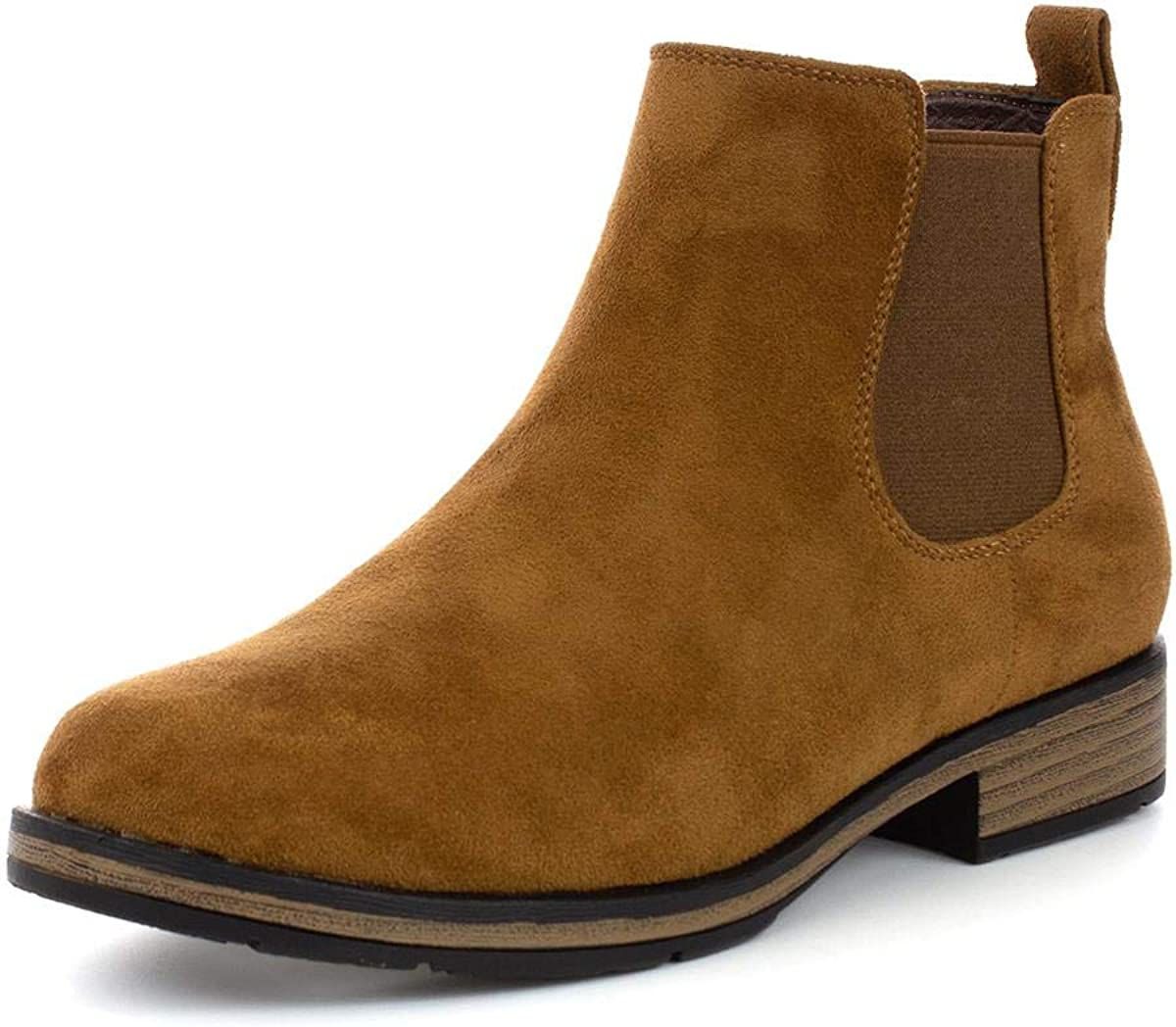 Lilley Womens Tan Faux Suede Ankle Boot