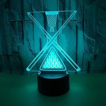 Billar 3D Lights Colorful Touch Led Billar 3D Visual Visual Lights ...