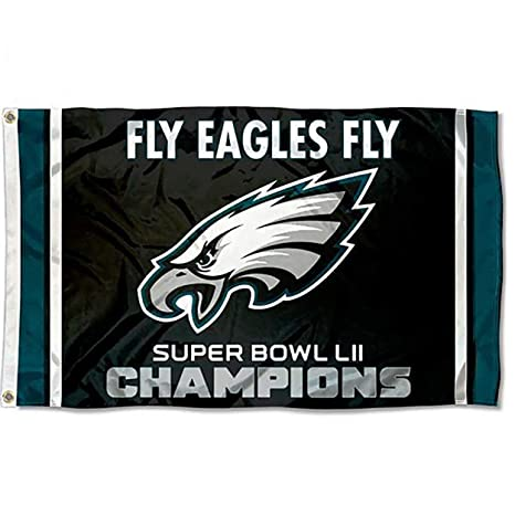 9030218ec39 Image Unavailable. Image not available for. Color  FanaticFan4Life 2018 Philadelphia  Eagles Super Bowl LII 52 Champs Flag 3ft x 5ft ...