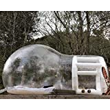 """Happybuy Outdoor Single Tunnel Bubble Tent Transparent 197""""X118"""" Inflatable Bubble Tent 0.24"""" PVC Transparent Inflatable Camping Tent 110V with Blower for Family Camping Backyard"""