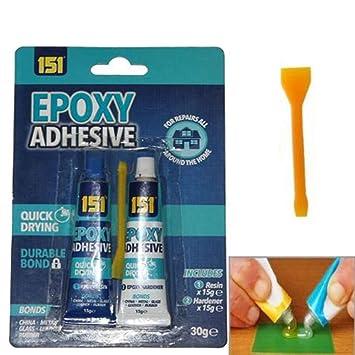 EPOXY Pegamento adhesivo fuerte 2 partes de resina endurecedor ...