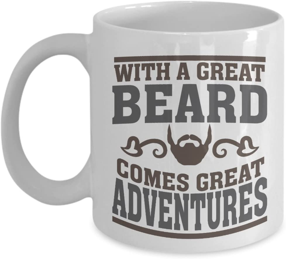 Outstanding Amazon Com With A Great Beard Comes Great Adventures Funny Coffee Natural Hairstyles Runnerswayorg