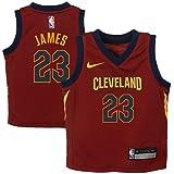 28b4a7de1 Nike Lebron James Cleveland Cavaliers NBA Infants Burgundy Red Replica  Jersey
