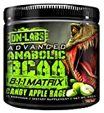 Advanced Anabolic BCAA 8-1-1 Formula - The Bodybuilder's Secret To Gaining Strength And Muscle - 35 Serving Tub - Amino Acids For Intra and Post Workout Recovery CANDY APPLE RAGE 35 SERVING 12.35 OZ