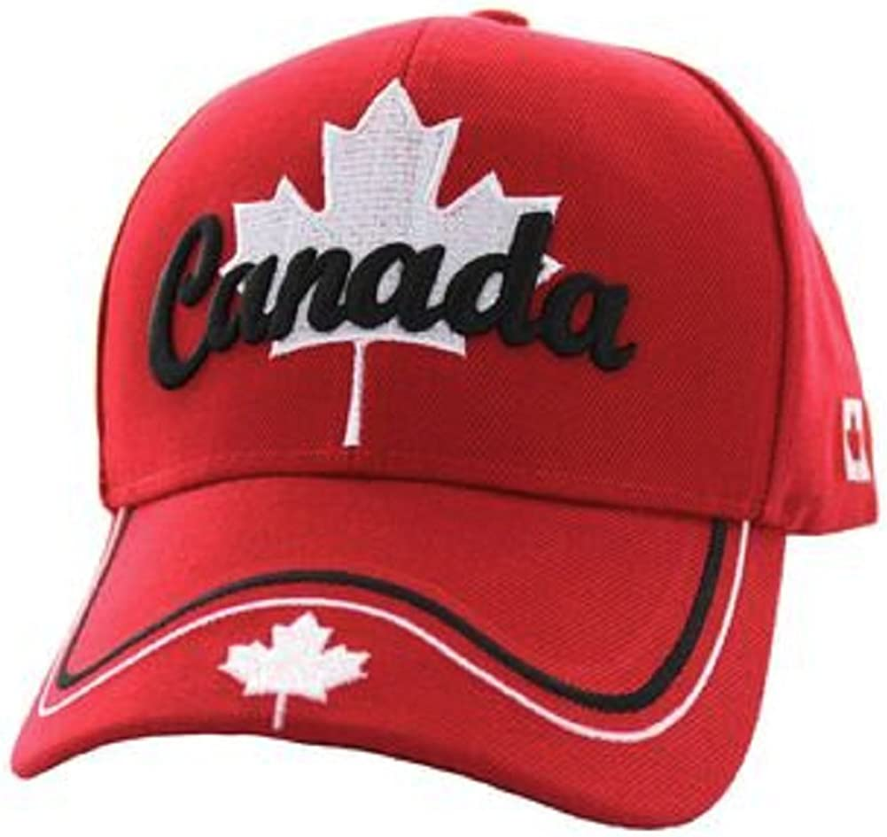 Canada Maple Leaf National Canadian Pride Hat - 100% Acrylic Embroidered Cap
