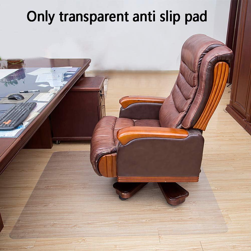HIANG256 Chair Mat Non Slip Computer Chair Mat Wear Resistant Foldable Rectangular Computer Carpet Mats for Home Office Clear Chair Mat with Lip for Hard Floors