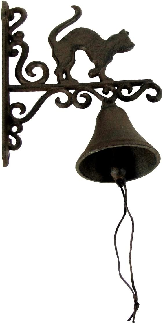 TG,LLC Treasure Gurus Rustic Metal Wall Mount Cat Door Call Bell Farm Garden Yard Patio Decor Doorbell