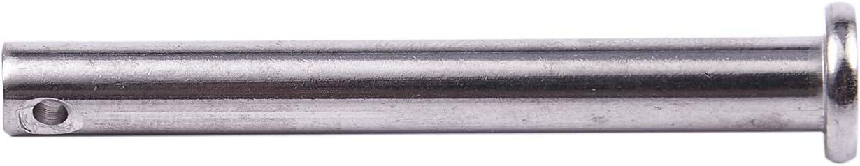 RETYLY Lot de 5 goupilles /à t/ête plate en acier inoxydable 304 M6 x 50 mm