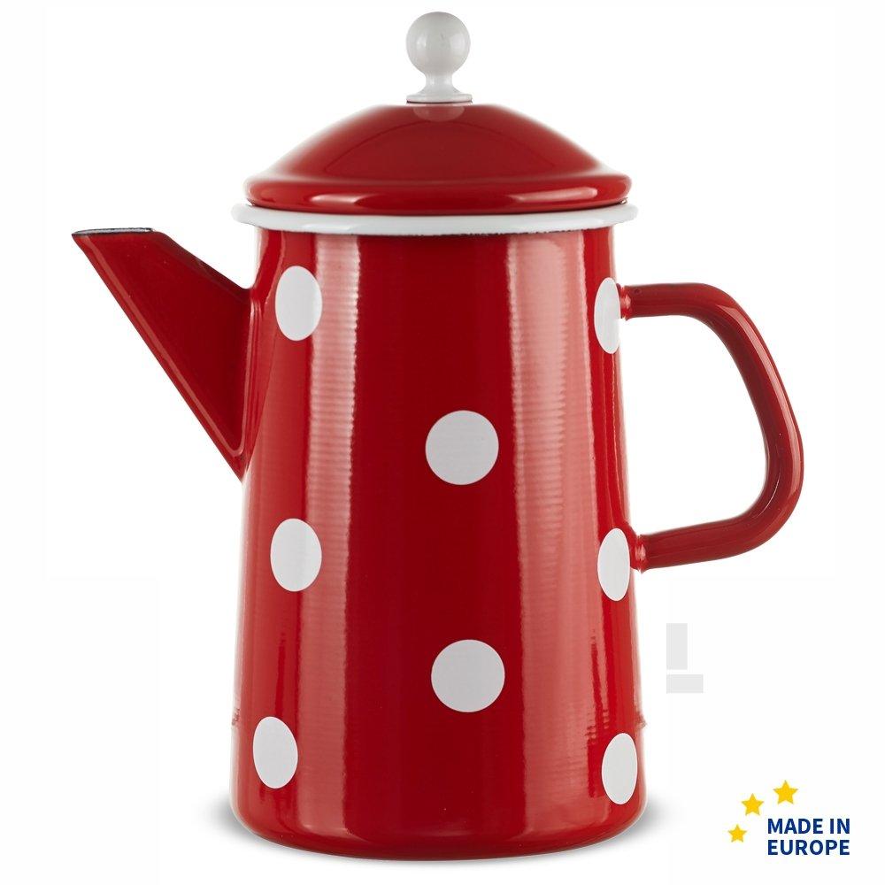 matches21/grandes Email Jarra Caf/é Rojo Lunares nostalgisches esmalte Vajilla por 23/x 12/cm//1600/ml