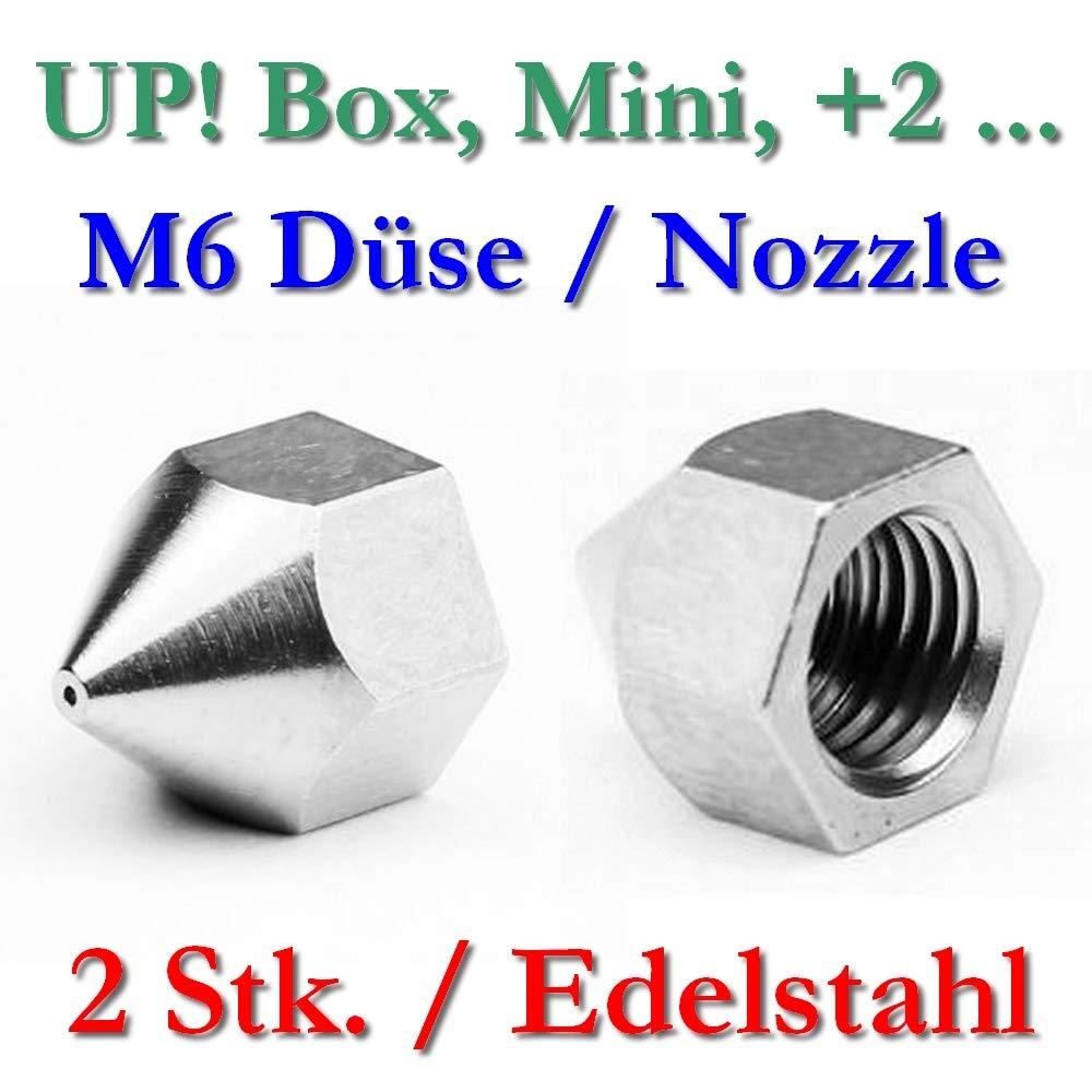2 x Up. Acero inoxidable Boquilla M6 Rosca Interior - 0,4 mm ...