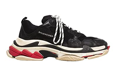 3f1d4443f60 Image Unavailable. Image not available for. Colour  TOPSHOD Unisex Mens  Womens Balenciaga Triple S Sneakers Black White Red