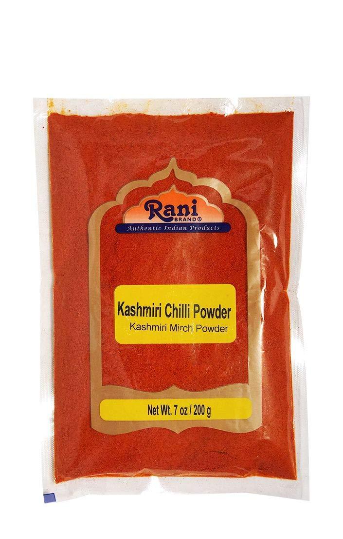 Rani Kashmiri Chilli Powder (Deggi Mirch, Low Heat) Ground Indian Spice 7oz (200g) ~ All Natural, Salt-Free | Vegan | No Colors | Gluten Friendly Ingredients | NON-GMO | Indian Origin