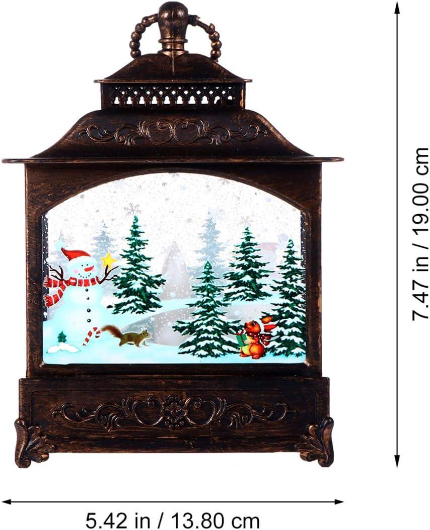 Bronze TOYANDONA Beleuchtete Dekorative Weihnachten Schneekugel Wasserlaterne Weihnachten H/ängende Laterne f/ür Weihnachten Wohnkultur