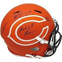 $699 » Dick Butkus & Mike Singletary & Brian Urlacher Signed Chicago Bears AMP Alternate Series Riddell Full Size Speed Helmet w/Monsters of the…