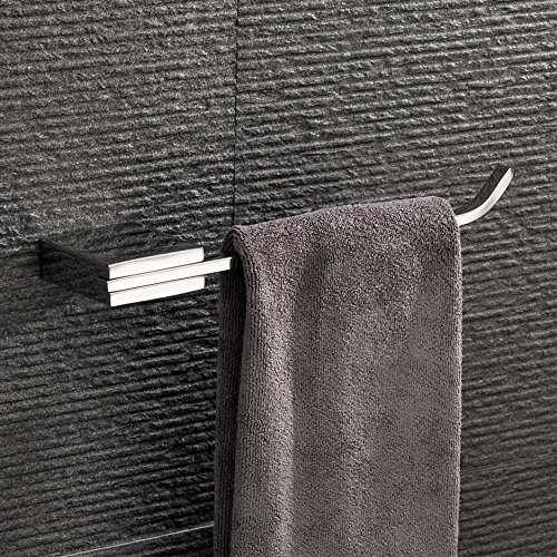 Velimax Chrome Towel Holder Modern Hand Towel Ring Squared of Stainless Steel Wall Mounted Towel Hanger for Bathroom, Chrome Finish by Velimax
