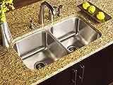 undermount kitchen sinks near me NEW Stainless Steel Undermount Kitchen Sink Double 16G 50/50 Equal 16 gauge 9