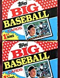 LOT OF TWO 1989 Topps Big Baseball Wax Pack Box Series 1 Likely Complete Set