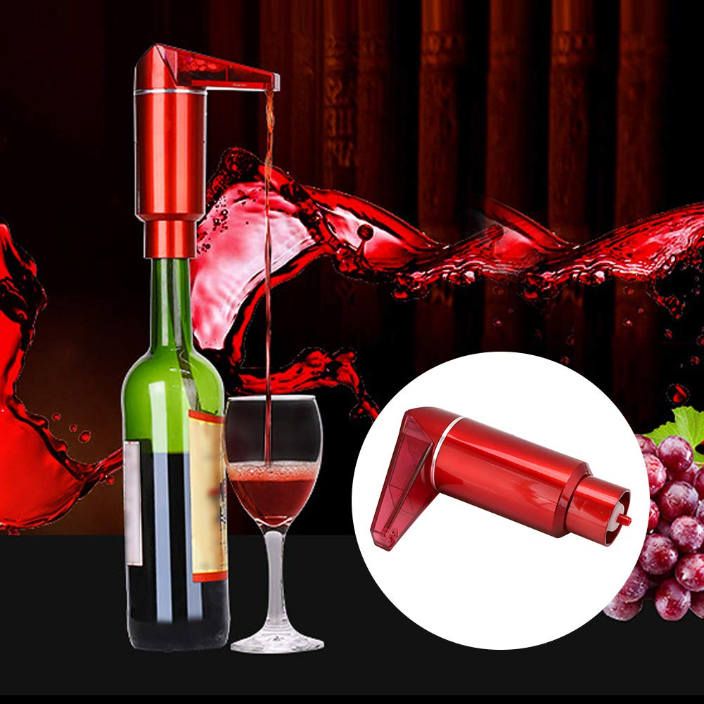 Zopsc Electric Wine Decanter, Portable Wine Dispenser, Dual Motor Micro-Circulation Decanter, Red Wine Quick Decanting, Single Button Decanter with The Volum Poured Out Controlled at Will by Zopsc