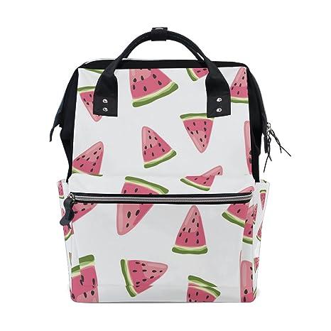 5a49b69497d2 Amazon.com: JSTEL Laptop College Bags Student Travel Watermelon ...