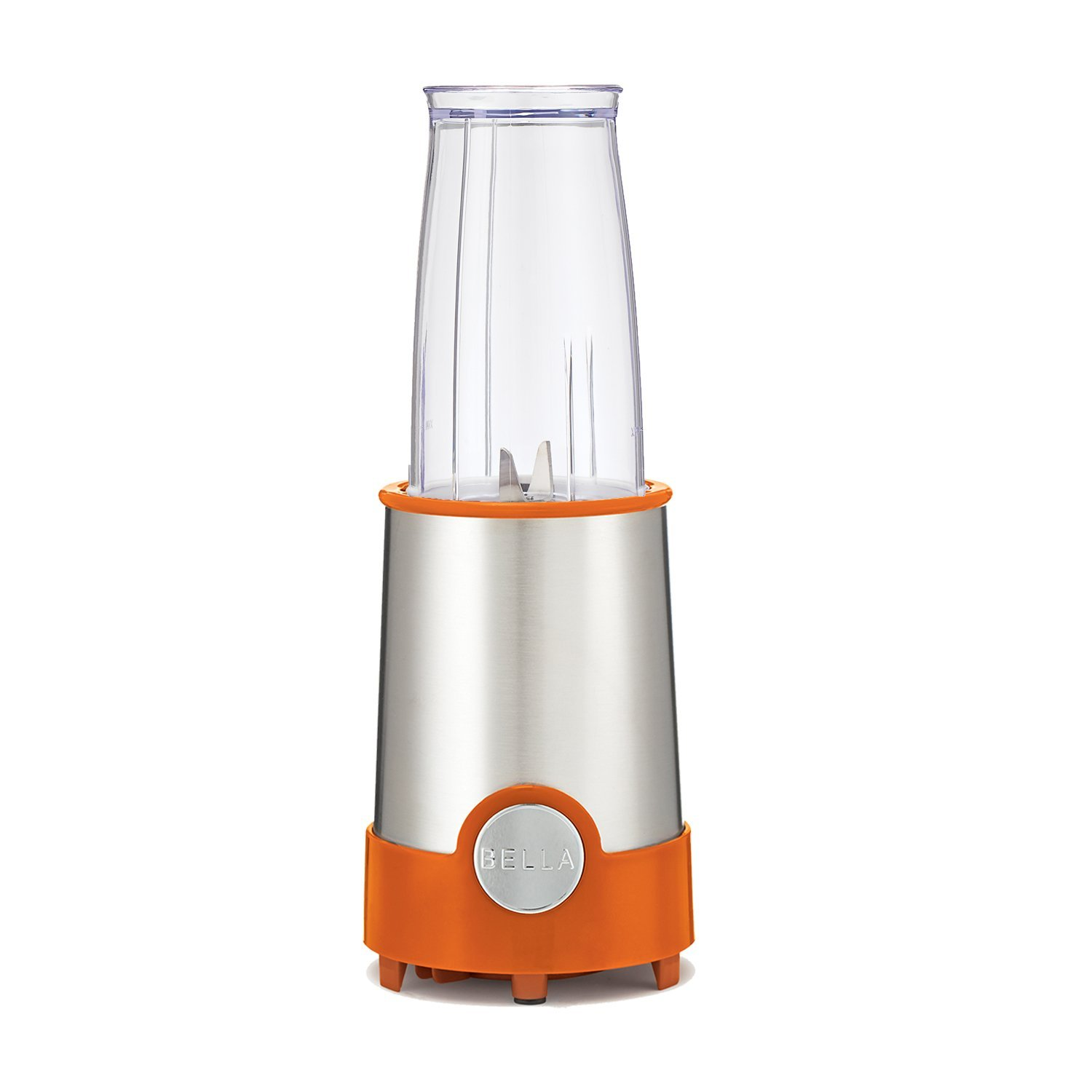 BELLA Personal Size Blender, 12 piece set, color orange and stainless steel