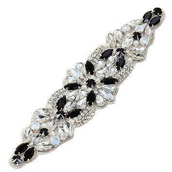 XINFANGXIU Rhinestone Applique con Cristales y Perlas para el Vestido  Headpieces Bolsas Cinturon para Vestido Novia bddd990ce316
