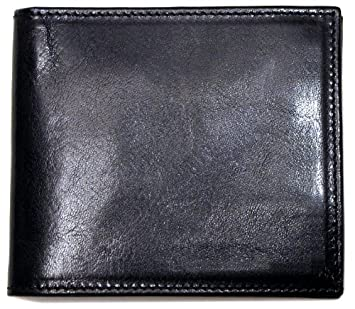 Floto Venezia Wallet in Hand Stained Italian calfskin leather Black