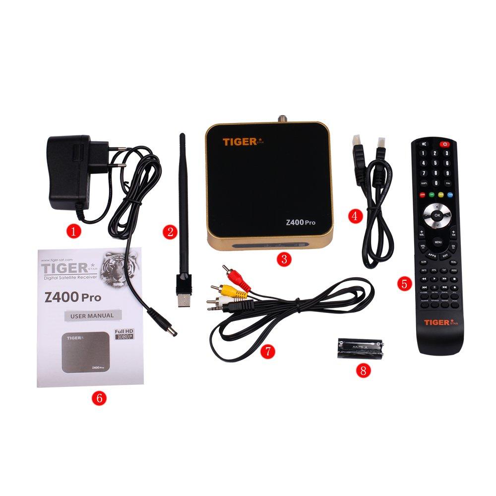 Tiger Star Z400Pro Digital Satellite Receiver IPTV Set Top Box,TV