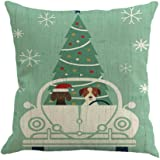 Goddessvan Christmas Printing Dyeing Pillow Cover Sofa Bed Home Decor Cushion Cover 1818 Inch